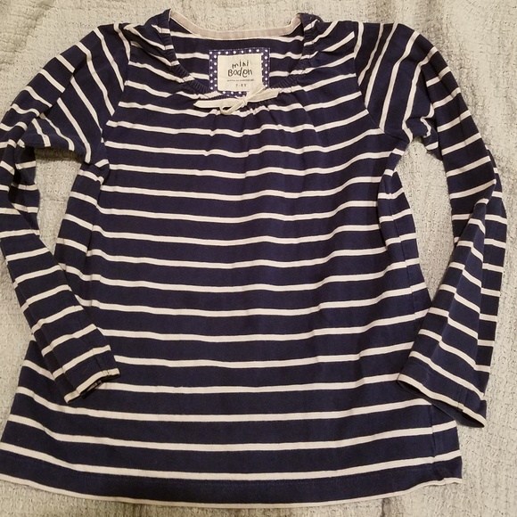 b3c754b933 Mini Boden Shirts & Tops | Girls Sweet Stripe Shirt | Poshmark